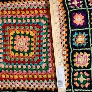 Vintage Granny Square Afghan signs of wear & tear